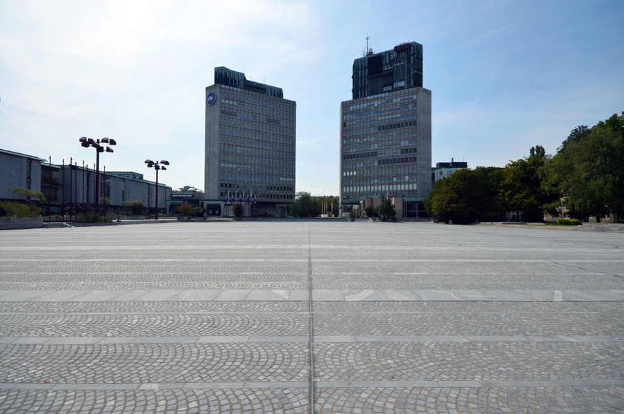 The Republic Square in Ljubljana.