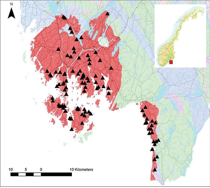 Iddefjord Granite Map