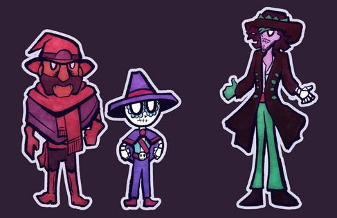 Cowboy RPG characters