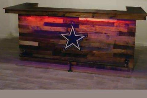 6 FT. Straight w/ LED Lights and Logo