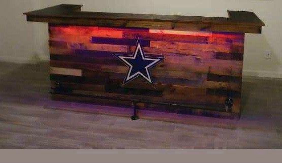 LED Lit Bar Design With Dallas Cowboys Logo