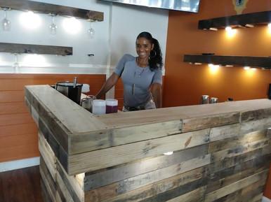 Custom Bar Area By Collective Decor | L Shaped Bar