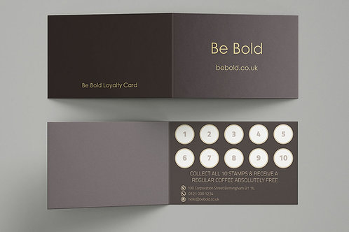 Loyalty Cards or Appointment Cards (350gsm)