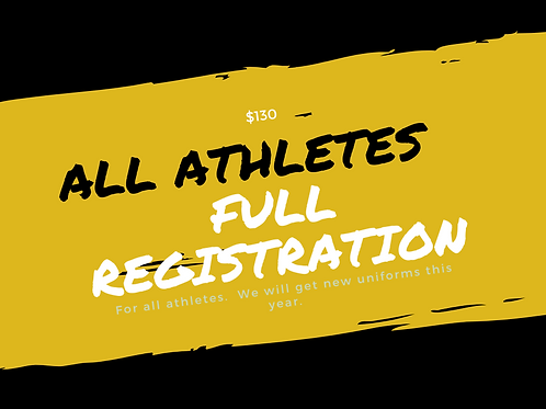 FULL Payment Registration - ALL Athletes