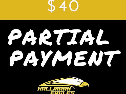 Partial Payment 40