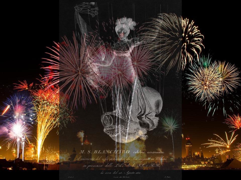 Sophie Blanchard and Firework Display