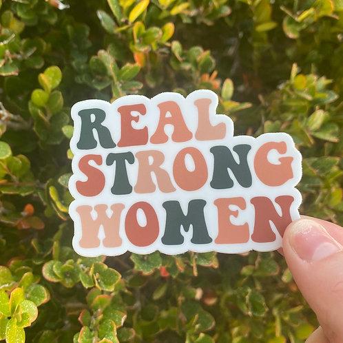 Real Strong Women Sticker