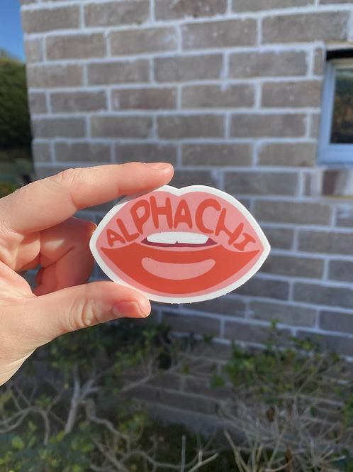 Kiss Alpha Chi Sticker