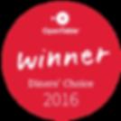 2016 Diners' Choice Award
