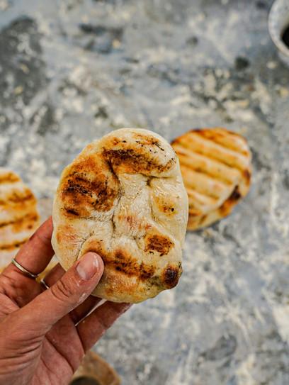 Pitabrot vom Grill