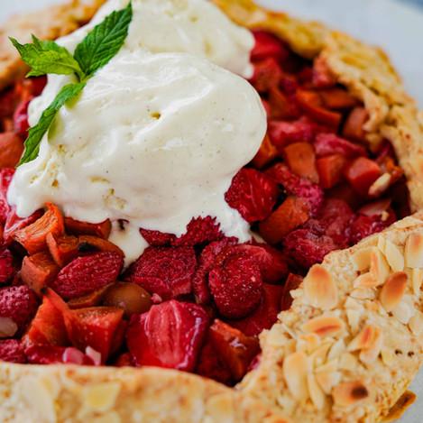 Erdbeer-Marillen-Galette