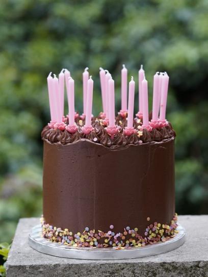 Geburtstagstorte Marmorkuchen mit Schokoladencreme