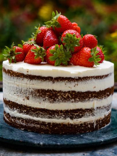 Naked Cake Schoko-Mascarpone-Torte