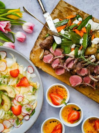 Ostermenü, Lammkarree, Fenchelsalat und Crème Brûlée