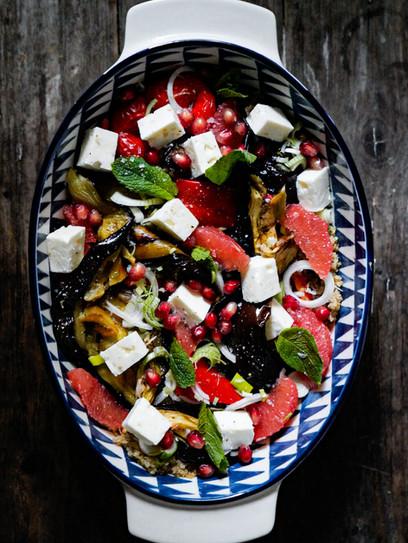 Auberginen-Quinoa Salat