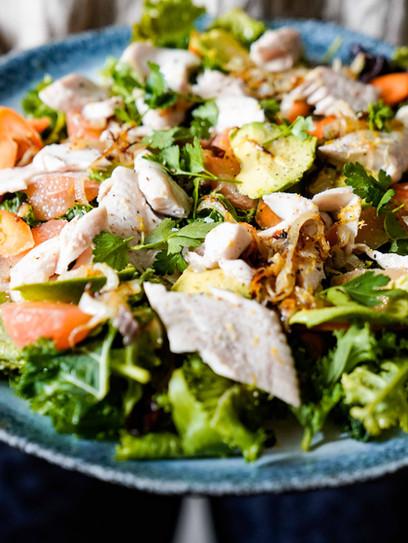 Sommerlicher Bachforellensalat