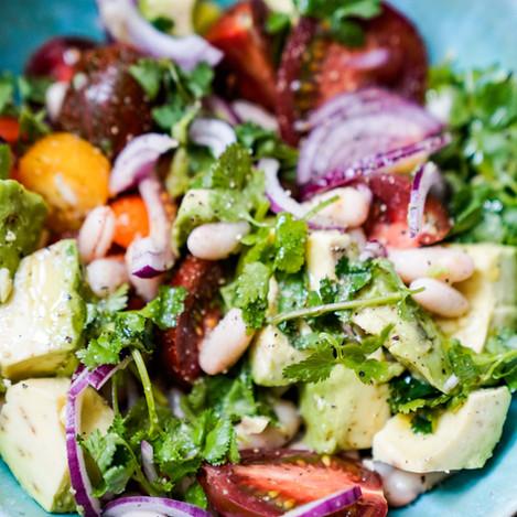 Cremiger Bohnensalat -vegan