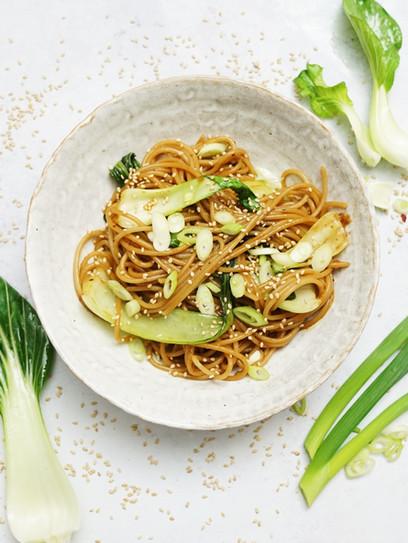 Asiatische Reisnudeln -Vegan