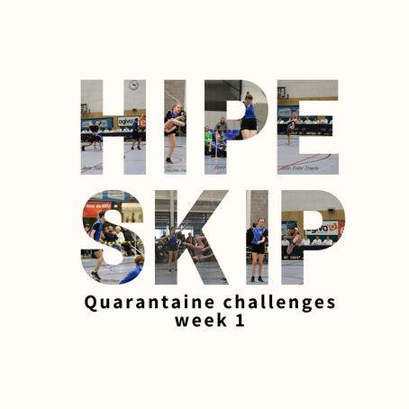 Hipe Skip Challenges week 1