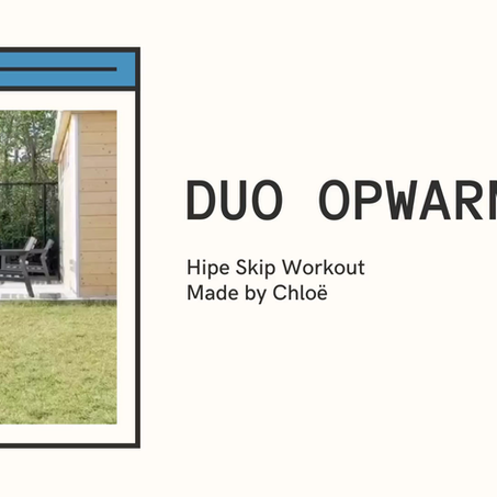 Hipe Skip Workout en opwarming in duo