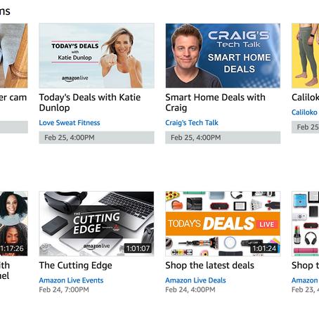 Amazon Live : une marketplace du liveshopping