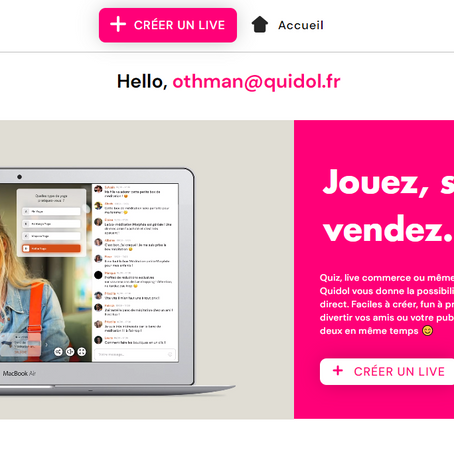 Tuto : créer son propre live sur quidol.fr