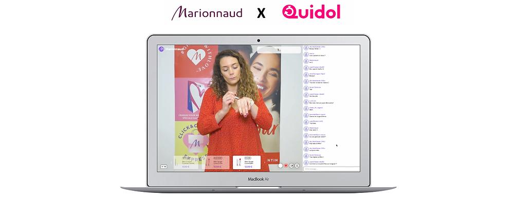 Live-shopping Mariaunaud x Quidol