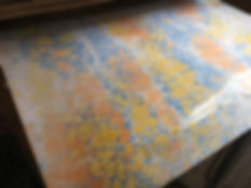 Handmade marbled paper made in Florence by la Carta di Arielle Benozio