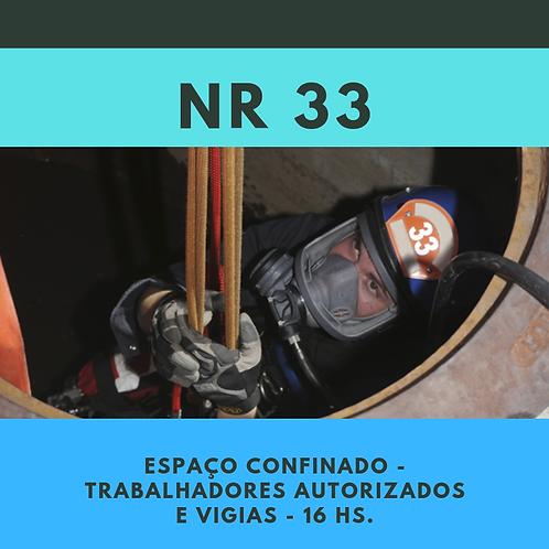 NR 33 Esp. Conf. Trabalhadores Autorizados e Vigias