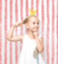 Mädchen-Aufstellung in Photo Booth