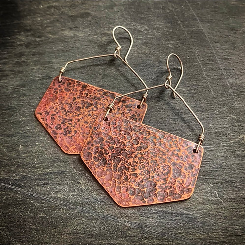 Hammered Copper Honeycombs - Wholesale