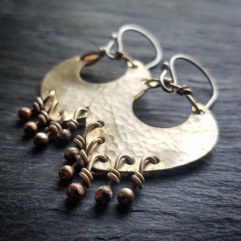 Small Liberty Earrings in Brass