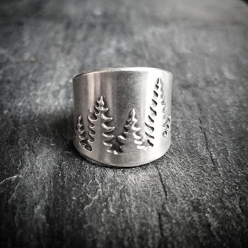 Pine Band Ring - Made to Order