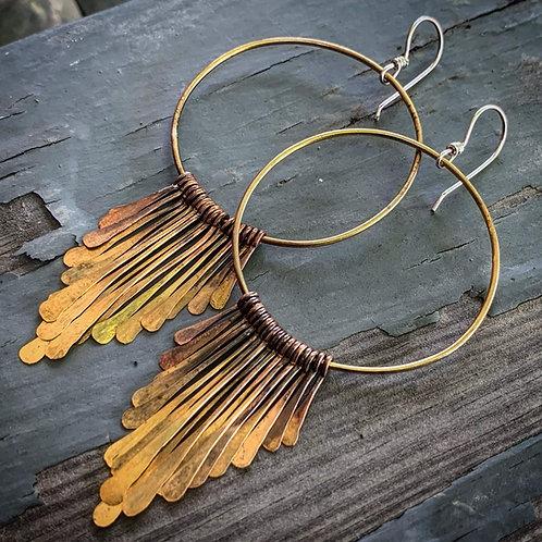 Brass Fringe Earrings - Wholesale