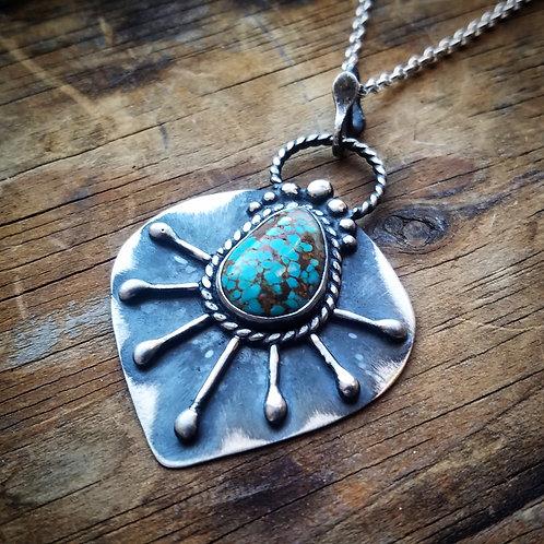 American Turquoise Pendant - Wholesale - Design: Sunburst