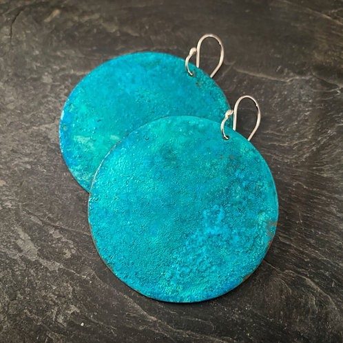 Hammered Copper Verdigris Full Moon