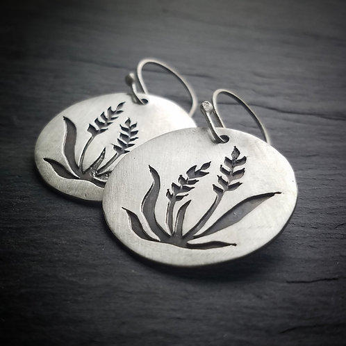 Wheat Earrings in Sterling Silver - Made to Order