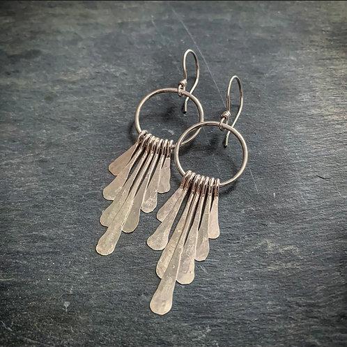 Small Sterling Fringe Earrings -Wholesale