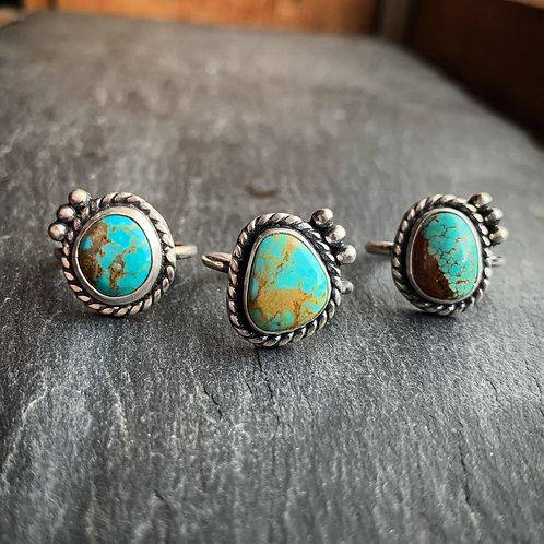 American Turquoise Ring - Wholesale - Design: Cactus Blossom
