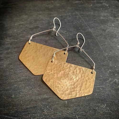Hammered Brass Honeycombs - Made to order