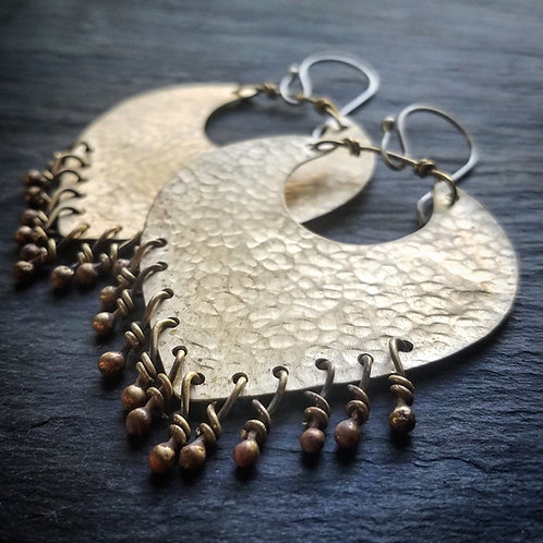 Liberty Earrings in Brass - Made to order