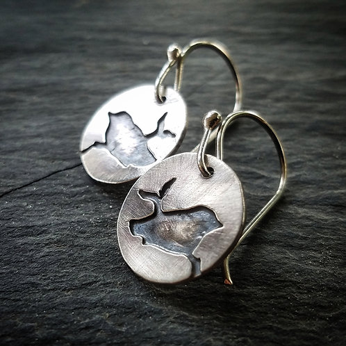 Lone Raven Earrings in Sterling Silver - Wholesale