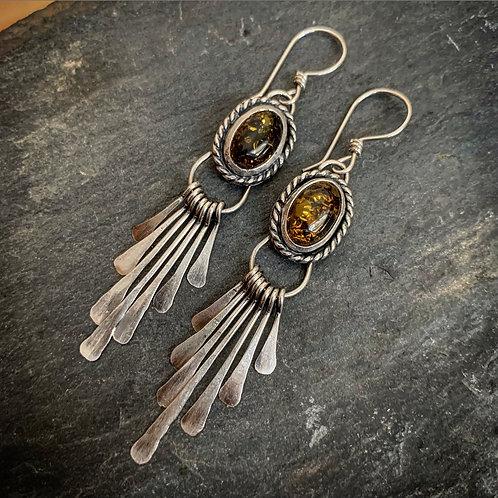 Baltic Amber Fringe Earrings