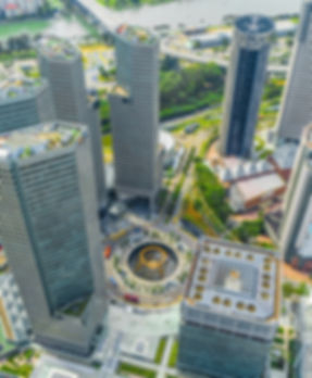 Suntec City cradled by Fountain of Wealth