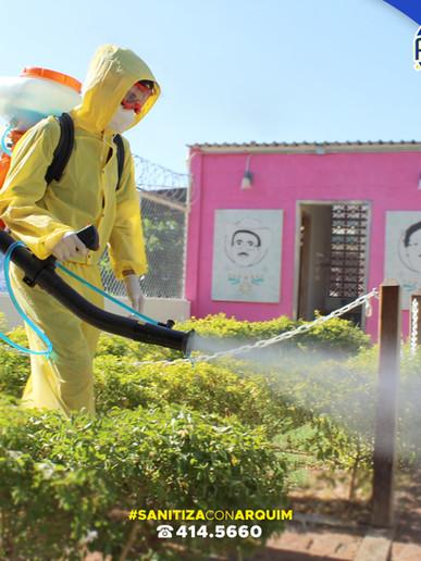 Desinfección por aspersión en frío