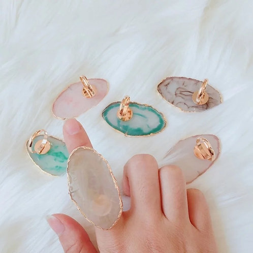 Glue or Tinting Resin Stone Ring