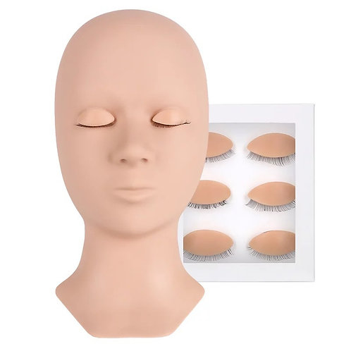 Mannequin Head with Replace Eyelid
