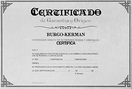 alfombras con certificado de origen y calidad