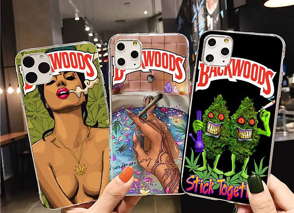 Abstractionism Art High Weed Backwoods Phone Case