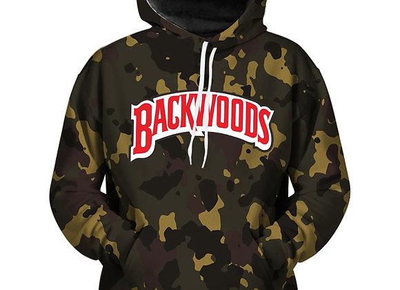 Camo back woods hoodie